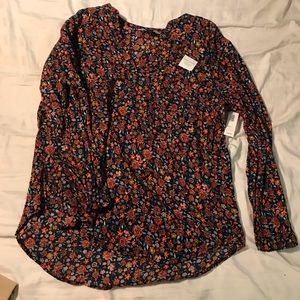 Floral old navy tunic